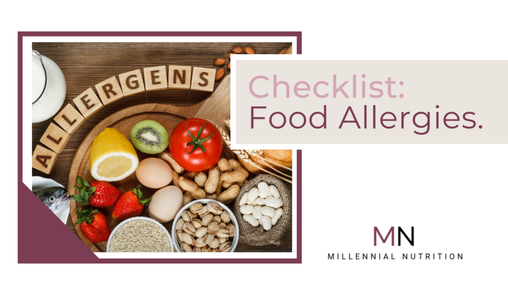 Checklist for living with food allergies